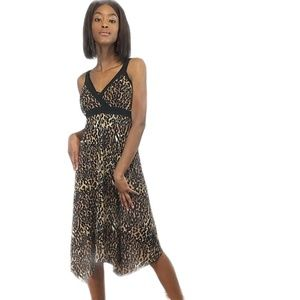 LEOPARD PRINT MIDI DRESS, AGB SIZE 16 NEW!!